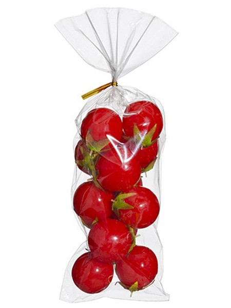 """1.25"""" Cherry Tomato (12Ea/Bag)Red (Pack Of 24) VPT101-RE By Silk Flower"""