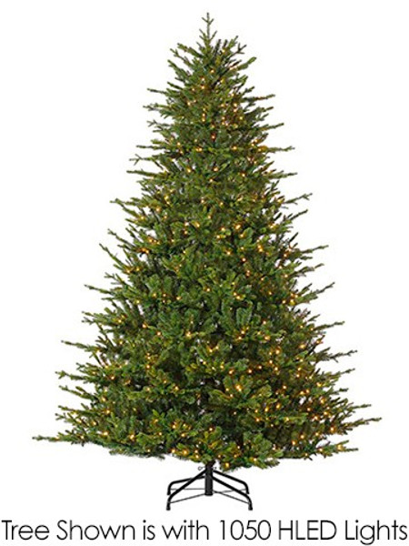 "7.5'Hx64""D Russian Fir (Pe) Tree X6429 W/1200 Multi Function Hled Lights (Ec)(Ms) YTR839-GR By Silk Flower"