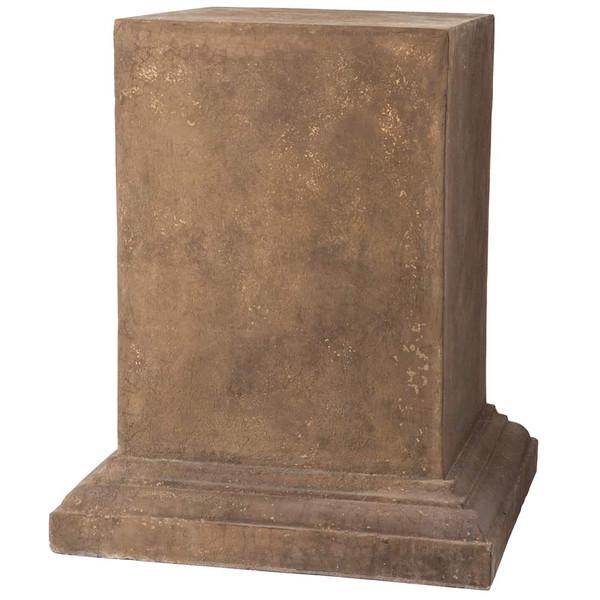 """31.4""""H X 25""""W X 25""""L Grimaldi Pedestal Antique Brown ACS013-BR/AT By Silk Flower"""