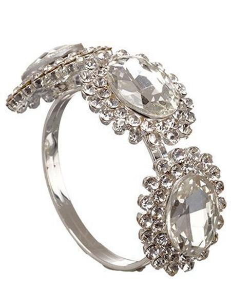 "2.5"" Rhinestone Napkin Ring Clear 24 Pieces Xan059-Cw"