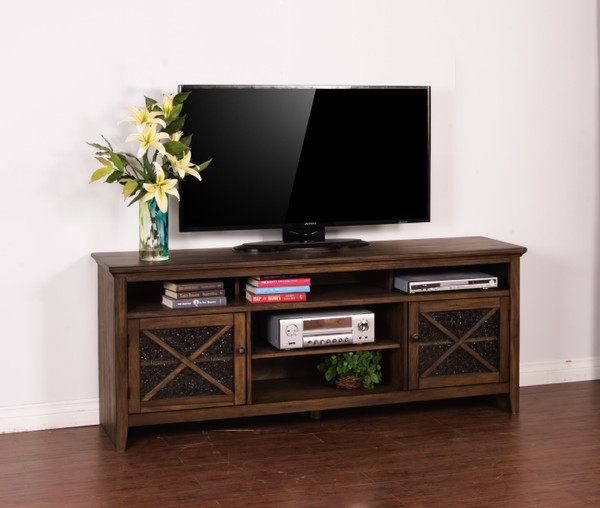 "Savannah 74"" Tv Console 3546Ac-74 By Sunny"