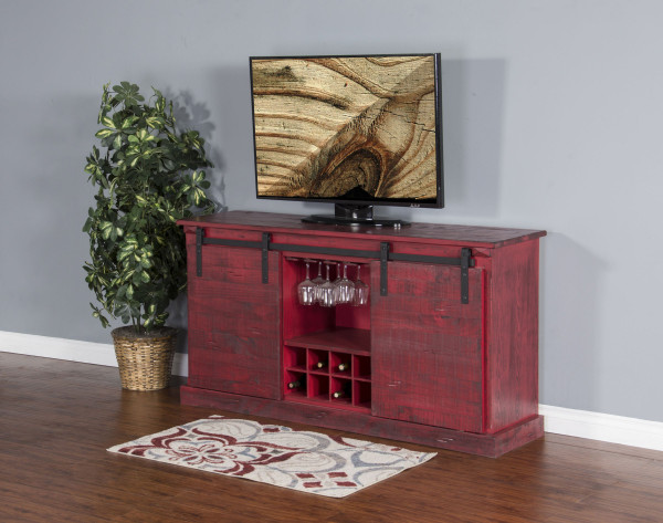 Burnt Red Tv Console 3577Br-B By Sunny