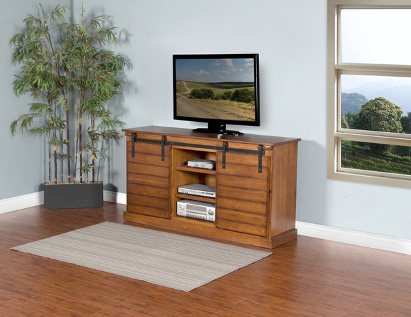 Dark Chocolate Tv Console 3577Dc-B By Sunny