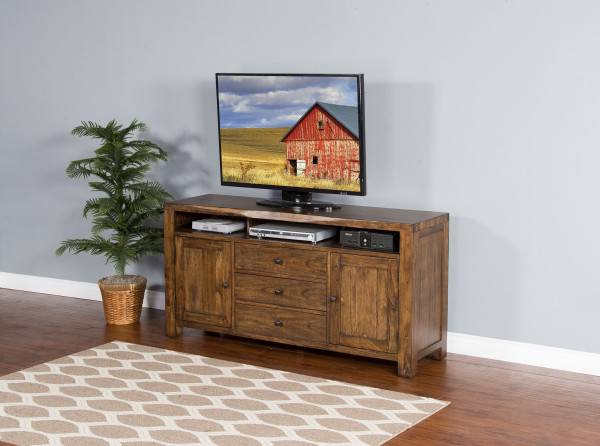 """Cary Live Edge 64"""" Tv Console 3592Nw-64 By Sunny"""