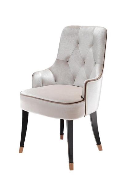 A&X Larissa Modern White Fabric Dining Chair