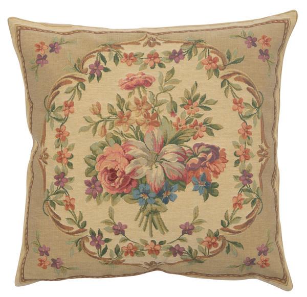 Bouquet Floral Beige European Cushion Covers WW-10427-14376