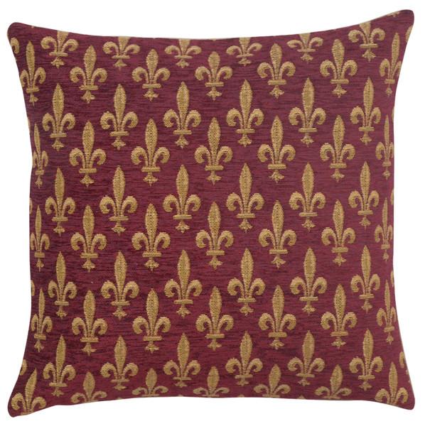 Fleur De Lys Rouge Iv European Cushion Covers WW-10438-14387