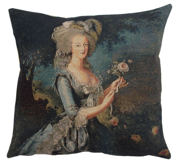 Marie Antoinette In Blue II European Cushion Covers WW-10439-14388