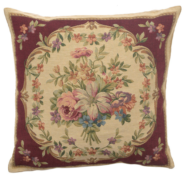 Bouquet Floral Red European Cushion Covers WW-11692-15589