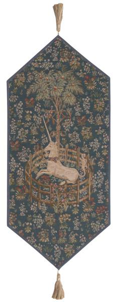 Licorne Captive Bleu Small French Table Runner WW-11802-15715