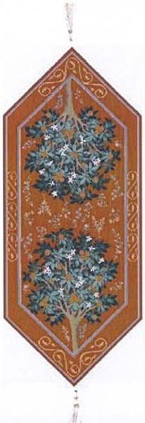 Orange Tree II French Table Runner WW-1349-2065