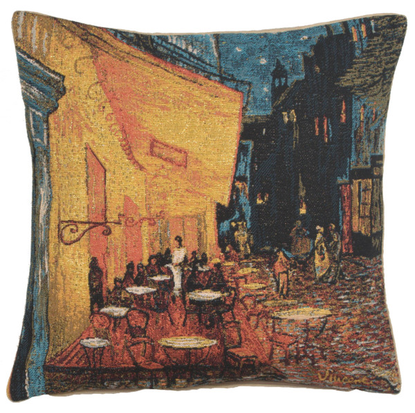 Cafe Terrace At Night European Cushion Covers WW-5222-7231
