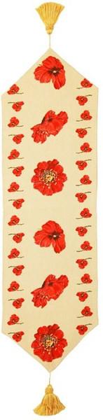 Red Poppy French Table Runner WW-5595-7805