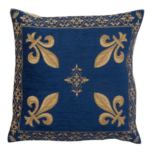 Fleur de Lys Blue III European Cushion Covers WW-5798-8153