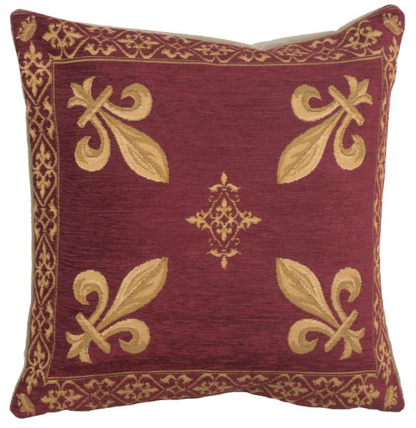 Fleur de Lys Red II European Cushion Covers WW-5987-12448