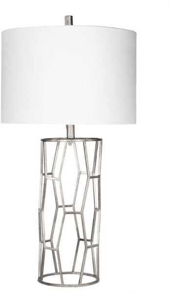 Antiqued Silvertone Table Lamp GVLP-001