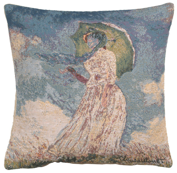 Monet's Lady With Umbrella European Cushion Covers WW-8337-11592
