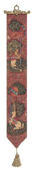 Unicorn And Lion European Tapestry Bell Pull WW-8389-11696
