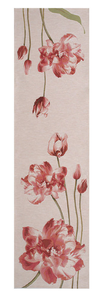 An Armful Of Red Tulips White French Table Runner WW-8423-11744