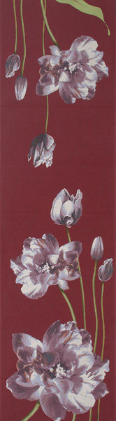 An Armful Of Purple Tulips Red French Table Runner WW-8424-11745