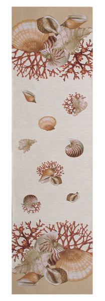 Shells Light French Table Runner WW-8441-11762
