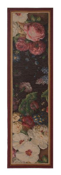 Flowers Dark French Table Runner WW-8481-11802