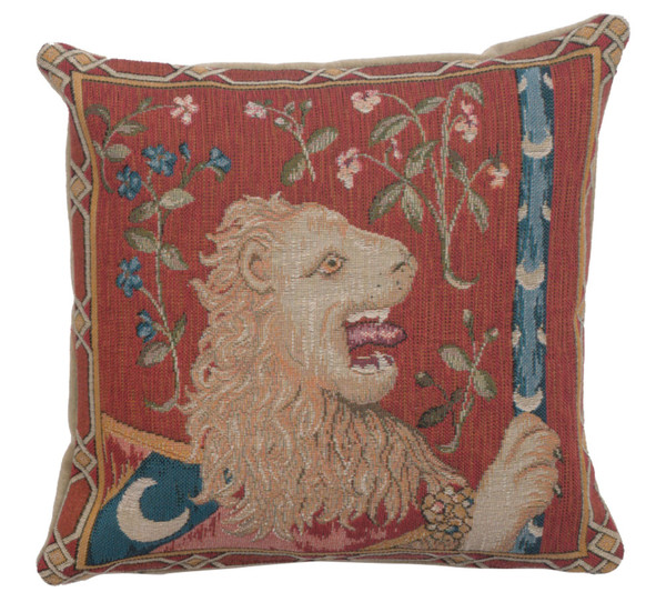 The Medieval Lion French Cushion WW-8623-12086