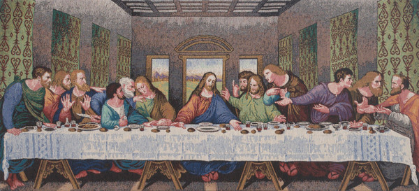 The Last Supper Tapestry Panel Stretched Wall Tapestry WW-9476-13347