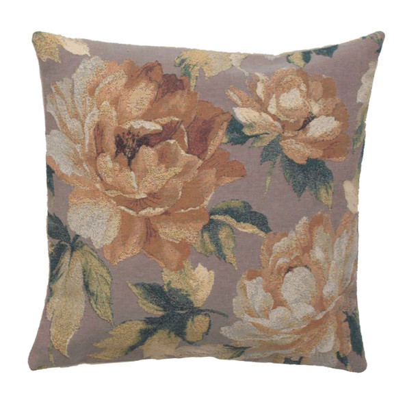 Sweet Blossoms Grey Decorative Pillow Cushion Cover WW-9507-13378