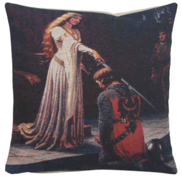 Knighted Decorative Pillow Cushion Cover WW-9523-13394