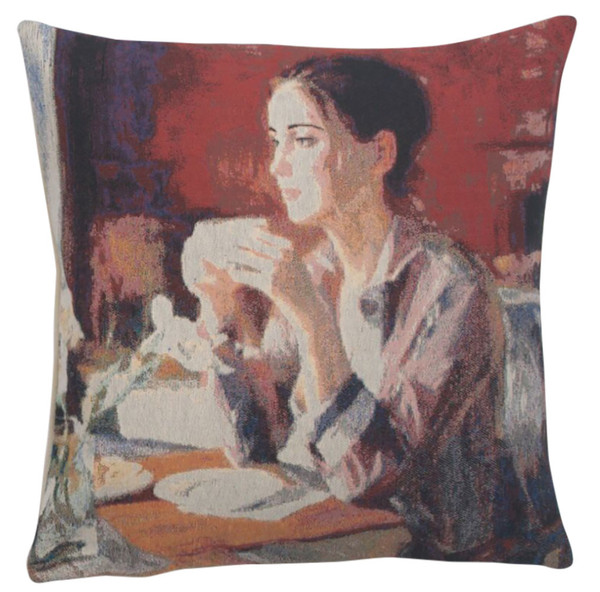 Morning Cuppa Decorative Pillow Cushion Cover WW-9539-13410