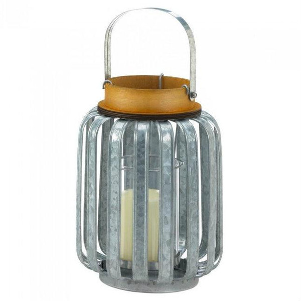 Large Galvanized Candle Lantern 10018514 By Zingz & Thingz