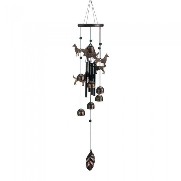 Dog Silhouettes Wind Chimes 10018631 By Zingz & Thingz