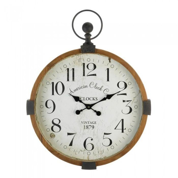 Old World Industrial Wall Clock 10018812 By Zingz & Thingz