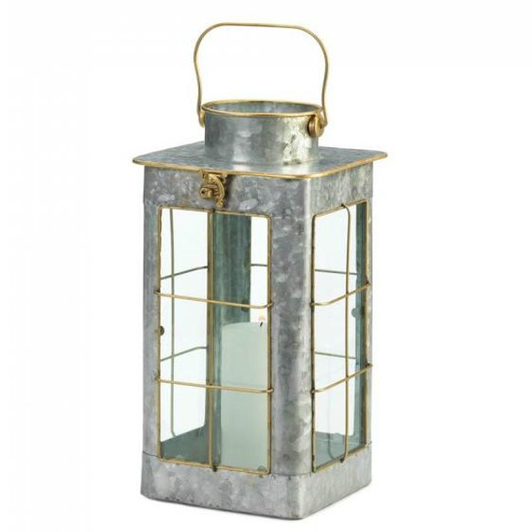 Small Country Farm Galvanized Lantern 10018813 By Zingz & Thingz