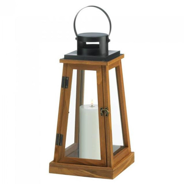 Classic Wooden Candle Lantern 10018825 By Zingz & Thingz