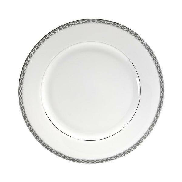 "10 Strawberry Street Athens 10.75"" Platinum Dinner Plates-Pack of 2 - ATH-1P"