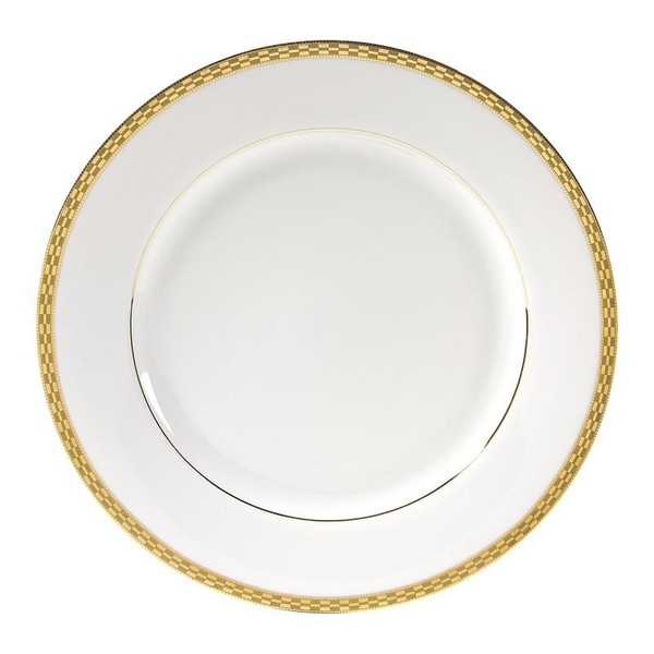 """10 Strawberry Street Athens 11.88"""" Gold Charger Plates-Pack of 2 - ATH-24G"""