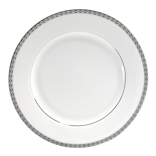"10 Strawberry Street Athens 11.88"" Platinum Charger Plates-Pack of 2 - ATH-24P"