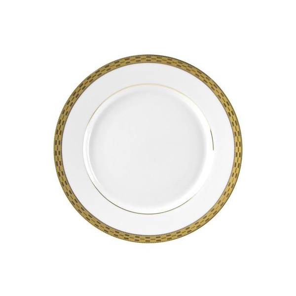 """10 Strawberry Street Athens 8"""" Gold Salad/Dessert Plates-Pack of 3 - ATH-4G"""