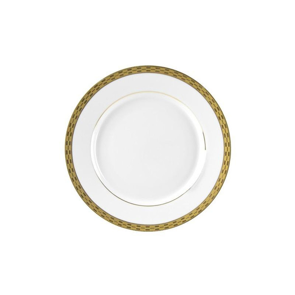 "10 Strawberry Street Athens 7"" Gold Bread & Butter Plates-Pack of 3 - ATH-5G"