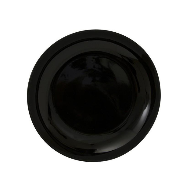 """10 Strawberry Street Black Coupe 10.25"""" Dinner Plates- Pack Of 24 BCP0001"""