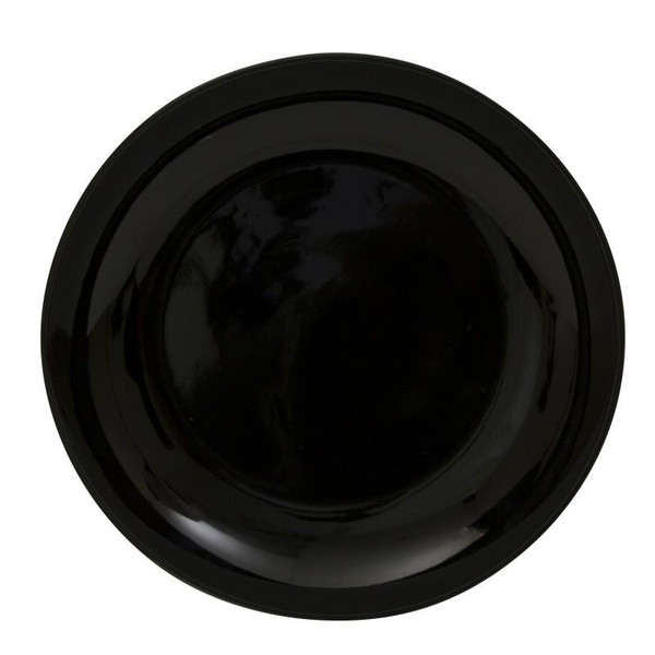 """10 Strawberry Street Black Coupe 12"""" Charger Plate- Pack Of 12 BCP0024"""