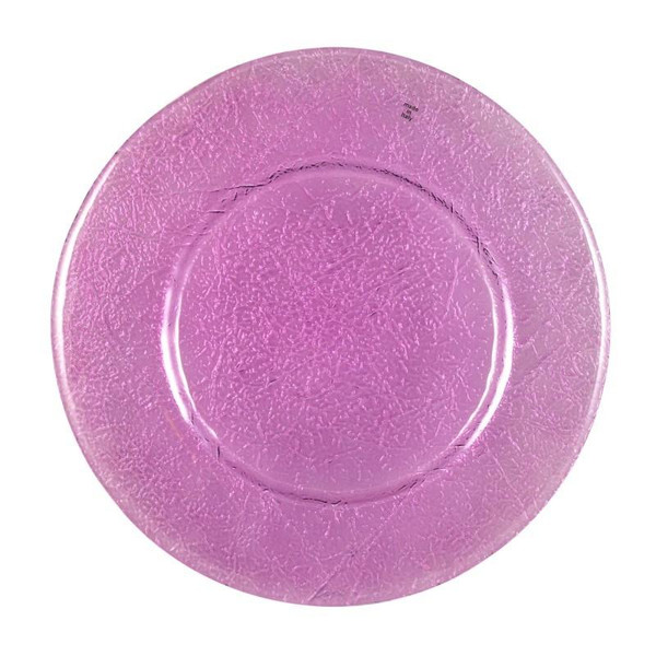 """10 Strawberry Street 13"""" Botanica Amethyst Glass Charger Pack Of 6 BTNCA-340"""