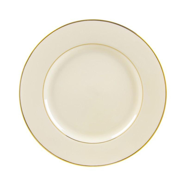 """10 Strawberry Street Cream Double Gold 10.75"""" Dinner Plates- Pack Of 24 CGLD0001"""