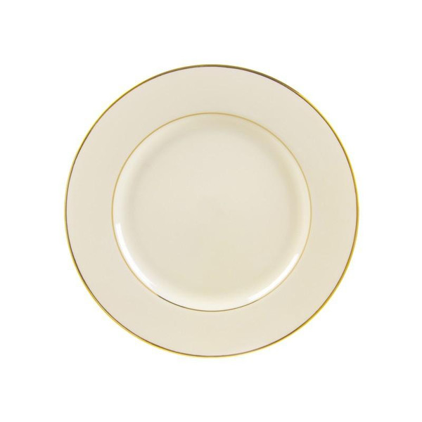 """10 Strawberry Street Cream Double Gold 9.13"""" Luncheon Plates- Pack Of 24 CGLD0002"""