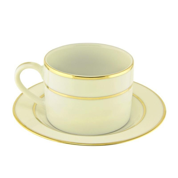 10 Strawberry Street Cream Double Gold 6-Ounces Can Cup/Saucer- Pack Of 24 CGLD0009