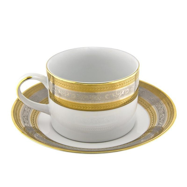 10 Strawberry Street Elegance 8-Ounces Can Cup/Saucer- Pack Of 24 ELE-9