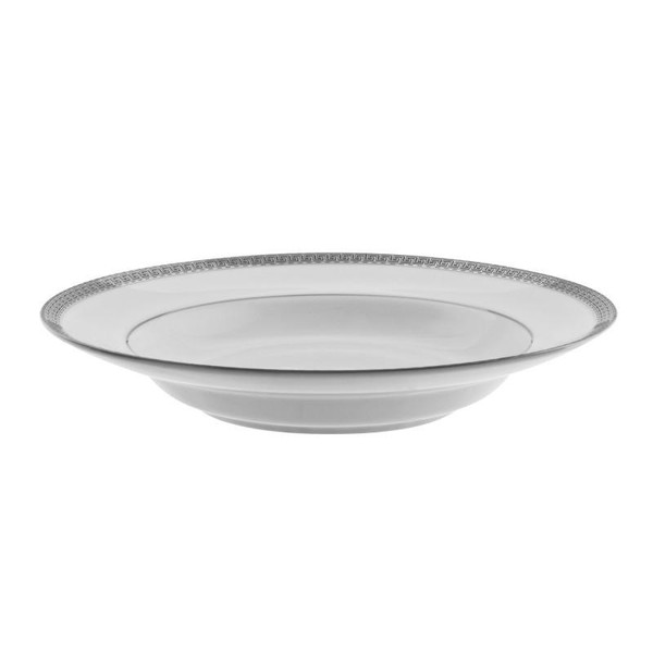 10 Strawberry Street Luxor 8-Ounces Platinum Rim Soup-Pack of 2 - LUX-3P