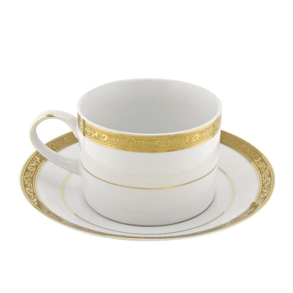 10 Strawberry Street Paradise 8-Ounces Gold Can Cup/Saucer-Pack of 2 - PAR-9G